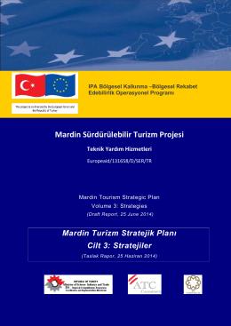 Taslak Rapor 3 - Mardin Sürdürülebilir Turizm Projesi