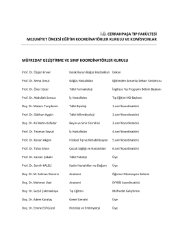 ctf mezuniyet öncesi eğitim koordinatörleri ve komisyonları listesi