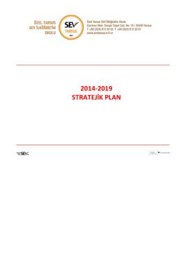 2014-2019 STRATEJİK PLAN - Özel Tarsus SEV İlköğretim Okulu