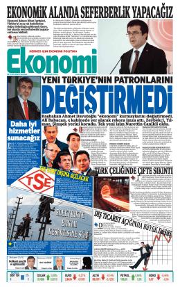 1 eylül 2014 - Ekonomi Gazetesi