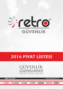 2014 FİYAT LİSTESİ - retroguvenlik.com