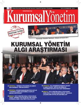 son sayıyı oku - TKYD - Türkiye Kurumsal Yönetim Derneği