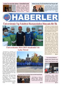 Üniversitemiz Tıp Fakültesi Hastanesinden Dünyada Bir İlk