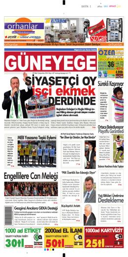 05 Mart 2014 - Güney Ege Gazetesi