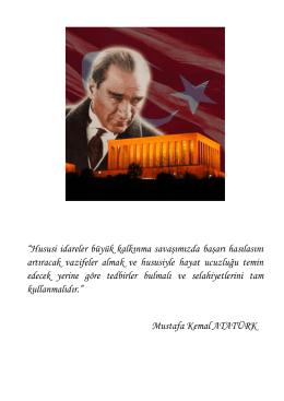 """""""Hususi idareler büyük kalkınma savaşımızda başarı hasılasını"""