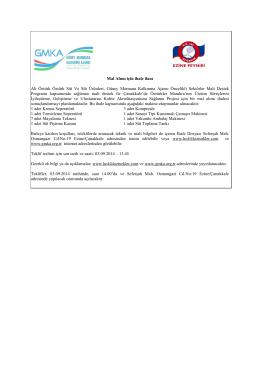 Mal Alımı için ihale ilanı Ali Öztürk Öztürk Süt Ve Süt Ürünleri, Güney