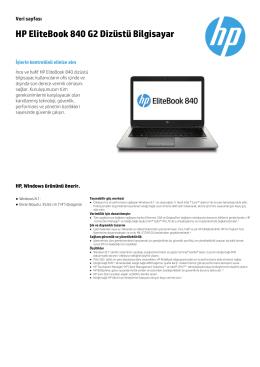 HP EliteBook 840 G2 Dizüstü Bilgisayar