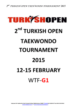2 turkish open taekwondo tournament 2015 12-15 - MA