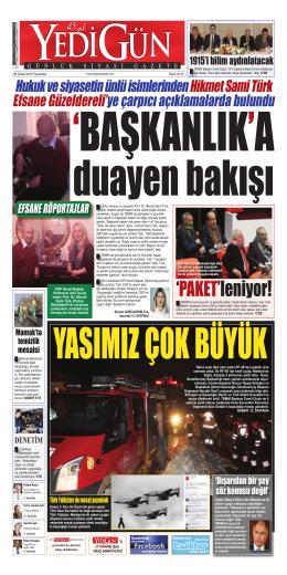 `PAKET`leniyor! - Yedigün Gazetesi