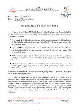 Tapu ve Kadastro Genel Müdürlüğü - ASYM