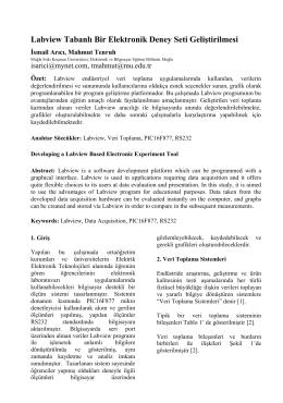 Labview Tabanlı Bir Elektronik Deney Seti Geliştirilmesi