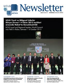 saYI/issue:3 sonbahar/auturrm 2013 - UCLG-MEWA