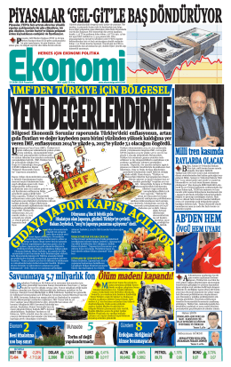 13 EKİM 2014 - Ekonomi Gazetesi