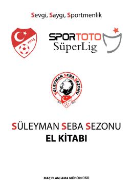 Spor Toto Süper Lig Süleyman Seba Sezonu Fikstür Kitabı