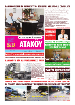 TAY)N ) KENCES) - Ataköy Gazetesi