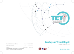 Azerbaycan Ticaret Heyeti - Electrical Electronics and Services