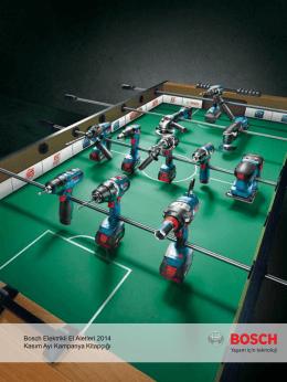 Bosch Elektrikli El Aletleri 2014 Kasım Ayı Kampanya Kitapçığı