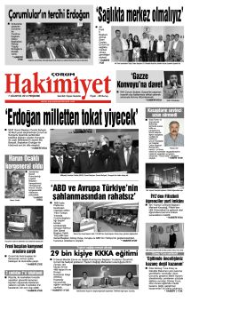 (7 a\360ustos.qxd) - Çorum Hakimiyet Gazetesi