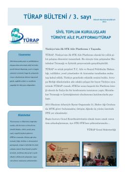 Ankara Bülteni 2013 - Türkiye Aile Platformu