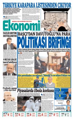 26 EKİM 2014 - Ekonomi Gazetesi
