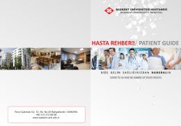 hasta rehberi - Başkent Üniversitesi Ankara Hastanesi