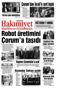 (8 kas\375m.qxd) - Çorum Hakimiyet Gazetesi
