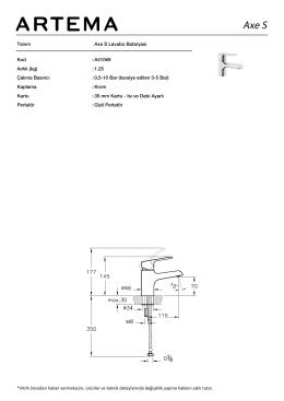 Tanım Axe S Lavabo Bataryası Kod :A41069 Aırlık (kg