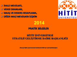 2014 Pratik Bilgiler