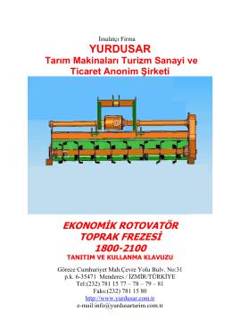 YURDUSAR Tarım Makinaları Turizm Sanayi ve Ticaret Anonim
