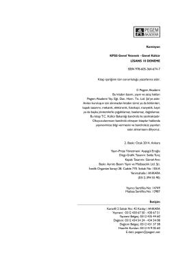 Komisyon KPSS Genel Yetenek - Genel Kültür LİSANS