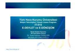 Türk Hava Kurumu Üniversitesi IT-515 E-DEVLET