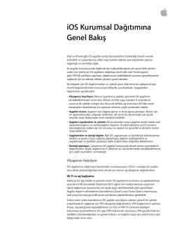 iOS Kurumsal Dağıtımına Genel Bakış