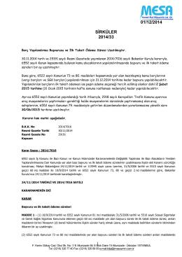 01/12/2014 SİRKÜLER 2014/33