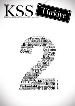 13. Sayı - Kurumsal Sosyal Sorumluluk Derneği