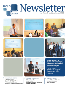 UCLG-MEWA Newsletter-6