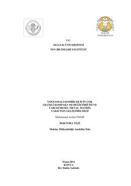 tc selçuk üniversitesi fen bilimleri enstitüsü yoğuşmalı kombiler için