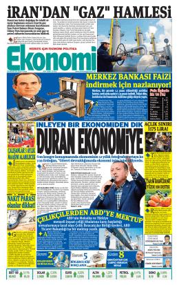 29 ağustos 2014 - Ekonomi Gazetesi