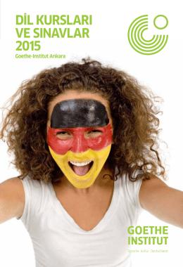 Dİl KURSlARI VE SINAVlAR 2015 - Goethe