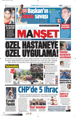 Eyvah! Yandık - Akdeniz Manşet