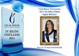 Celal Bayar Üniversitesi 2014 Yılı Bilim Ödülü Sağlık Bilimleri