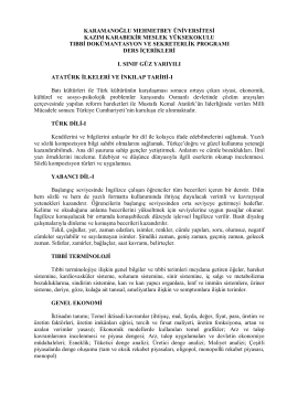 OTOMOTİV EĞİTİM - Karamanoğlu Mehmetbey Üniversitesi