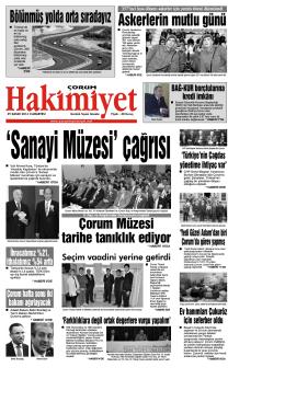 (29 kas\375m.qxd) - Çorum Hakimiyet Gazetesi