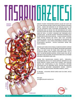 Tasarım Gazetesi Ocak sayısı için
