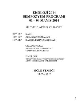 sempozyum güncellenmiş programı