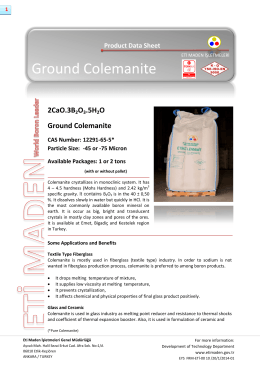 Ground Colemanite - Eti Maden İşletmeleri