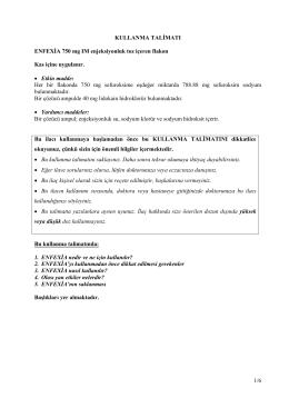1/6 KULLANMA TALİMATI ENFEXİA 750 mg IM enjeksiyonluk toz