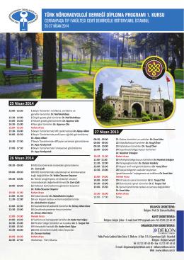 türk nöroradyoloji derneği diploma programı 1. kursu