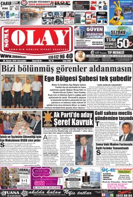 05 Kasım 2014 - Soma Olay Gazetesi