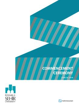 COMMENCEMENT CEREMONY - İstanbul Şehir Üniversitesi