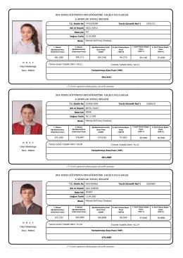 8.Sınıflar TEOG Sonuç Belgeleri(Toplu Sonuçlar)